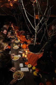Outdoor Halloween party