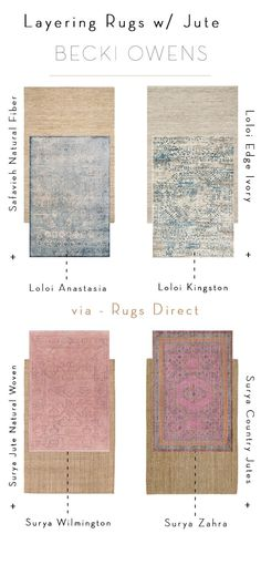 Loloi rugs with jute rug (layering) /// I'm excited to introduce another rug trend, layering rugs, in partnership with Rugs Direct. Layering rugs with with jute and natural fiber foundations is a trend that is easy to embrace and instantly elevates a space to create a designer look.