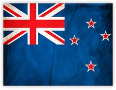 The Waving Flag of New Zealand.