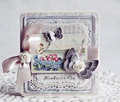 ✯So beautiful✯ Shabby Chic butterfly card by Anna Zaprzelsk  #annazaprzelsk #shabbychic #butterflycard