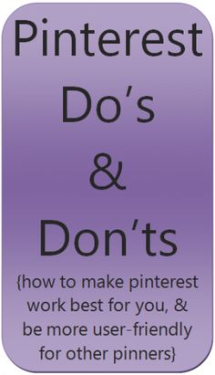 Pinning do's and don'ts. wish I'd seen something like this BEFORE I pinned pins. Am working steadily to edit. I find the editing almost as fun as the pinning. Like to research many of the pins ~ & play around with the Covers of the board Vídeos Youtube, Pinterest For Business, Apps, Pinterest Marketing, Social Media Tips, Good To Know, Business Tips, Just In Case, Helpful Hints