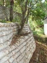 unopened bag concrete retaining