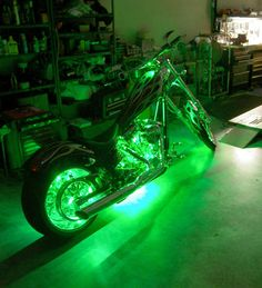 Green LED Motorcycle Accent Lighting Kit #LED Accent Lighting