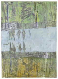"thunderstruck9: ""Peter Doig (British, b. 1959), Cobourg 3+1 more, 1995. Oil on paper, 39 x 28 in. """