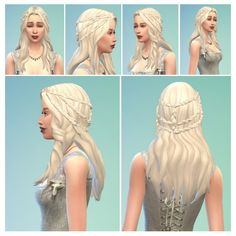 Khaleesi Hair at Birksches Sims Blog • Sims 4 Updates