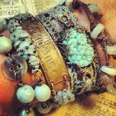 hippie/bohemian/boho. Literally the best bracelet set I have ever seen!