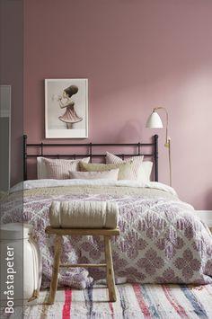 wohnzimmer mit individuellem charakter und wandfarbe altrosa ... - Rosa Wandfarbe Wohnzimmer