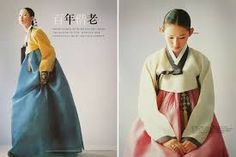 7) yellow and blue hanbok 8) mint green and pink
