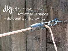 Diy Clothesline For Small Spaces -