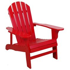 United Lehigh-country TX94050 Red Adirondack Chair (Adirndck Chair Red), Size Single, Patio Furniture