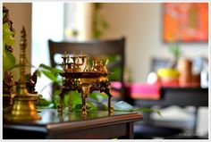 brass ashtamangalam set