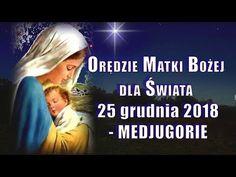 MEDJUGORIE - Orędzie Matki Bożej z 25 grudnia 2018 dla świata - PRZESŁANIE KRÓLOWEJ POKOJU - YouTube I Love You, My Love, Matki, Film, Youtube, Biblia, Catholic, My Boo, Movie