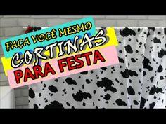 COMO FAZER CORTINA PARA FESTA INFANTIL - YouTube