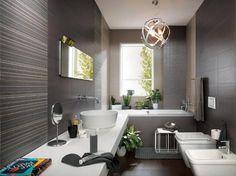 Rivestimento da bagno Materia - Tortora/Antracite e Tweed - Fap Ceramiche