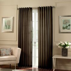 Chocolate brown curtains for Master Bedroom | For the Home ...