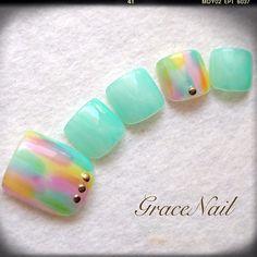 #foot nails #pastel
