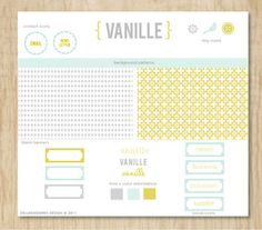 really cute blog design kit