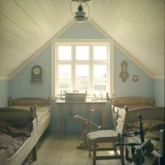 Attic room ideas | Attic Room, the blue is nice for the wall ... | Ideas for the Attic R ...