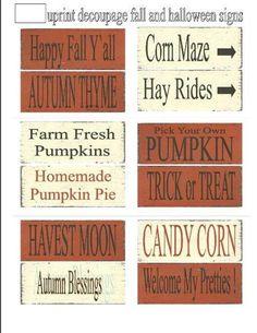 Primitive signs printable decoupage sheets , Halloween Pumpkin , SOOO..... EASY , ( anyone an make these ). $4.95, via Etsy.