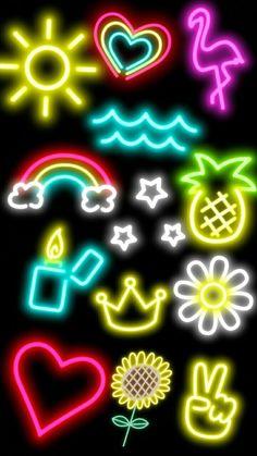 Snapchat:) Neon Wallpaper, Cute Wallpaper Backgrounds, Tumblr Wallpaper, Cute Wallpapers, Iphone Wallpaper, Pop Art, Dont Touch My Phone Wallpapers, Tumblr Backgrounds, Tumblr Stickers