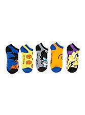 Dragon Ball Z: Resurrection 'F' No-Show Socks 5 Pair,