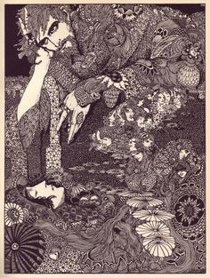 illustrations for Edgar Allan Poe  ( Harry Clarke 1889-1931, Irish stained-glass artist and illustrator. )
