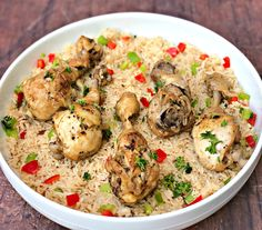 Instant Pot Chicken Drumsticks and Rice (Arroz Con Pollo) is a quick and easy pressure cooker recipe with Cuban seasonings and Spanish rice. This recipe is perfect for weeknight dinners or advanced meal prep. Chicken Drumstick Recipes, Chicken Recipes Video, Healthy Chicken Recipes, Entree Recipes, Dinner Recipes, Seasoned Rice Recipes, Fitness Meal Prep, Spanish Rice, Pollo Spanish
