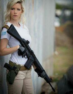Girl with a Weapon home women gun vids Military girl . Women in the military . Women with guns . Girls with weapons Airsoft, Remington 700, Military Guns, Warrior Girl, Warrior Women, Female Soldier, Military Women, Badass Women, Firearms