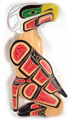 Pacific Northwest Art carved eagle dancer plaque