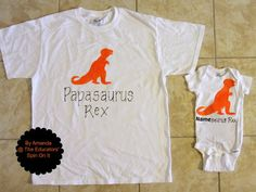 DIY Fathers' Day T-shirt Dinosaur Theme for that special Papasaurus in your child's life.