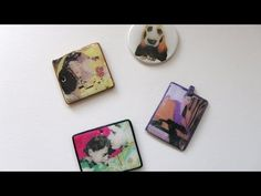 How to transfer old dictionary words onto polymer clay - YouTube