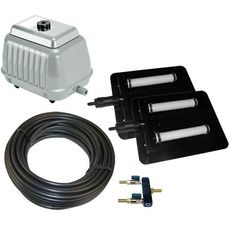 Pond Air 4 - Shallow Pond Aeration Kit Up to Acre Pond Aerator, Water Quality, Shallow, Acre, Kit, Mornings