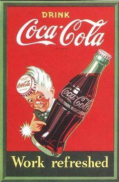 Image detail for -VINTAGE COCA-COLA KITCHEN RETRO ART POSTER COKE 1950s