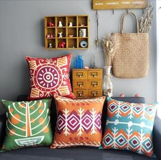 Set of 4 Nordic Bohemian Indie Pillow Covers by CoconutLime77, $100.00