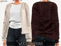 5603eeafe3c AWESOME Wool Cardigan Accessory for your SIMS4 Ladies! Created BY   Elliesimple! Another of