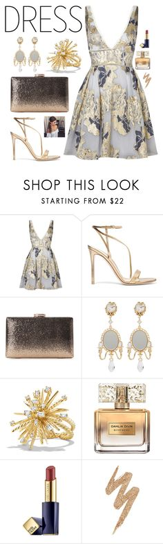 """Christmas party"" by asnaate ❤ liked on Polyvore featuring Notte by Marchesa, Gianvito Rossi, Natasha, Dolce&Gabbana, David Yurman, Givenchy, Estée Lauder and Urban Decay"