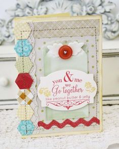 We Go Together Card by Melissa Phillips for Papertrey Ink (June 2012)