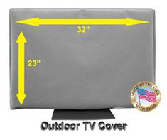 "32"" Outdoor TV CoverTop Premium Quality Weather Resistant Soft Non Scratch Interior Made In USA (Televisions up to 38"") Outdoor Tv Covers, Televisions, Rain, Waterfall, Rain Photography"