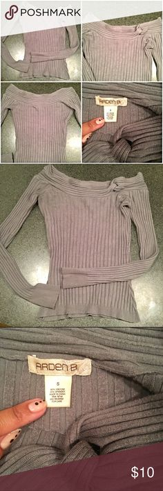 Arden B off-the-shoulder Sweater Fitted & ribbed, long sleeves, very well kept *though slight piling seen in last pic* (offers are welcomed☺️) Arden B Tops Blouses