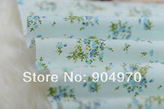 1 метр голубой цветы хлопчатобумаёной ткани детей 100% стеёка ткани хлопка ткань доскутная кроватях ребенка 100см 160см х US $11.99
