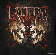 Cool artwork from Pantera! If you like thrash metal with shredding guitar solos, check my band TRAINWRECK ARCHITECT: http://www.trainwreckarchitect.net/?page_id=506  Pantera is one of our main influences and we have amazing t-shirt / CD artworks!