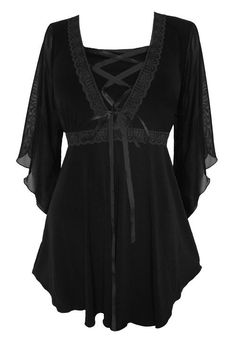 Dare To Wear Victorian Gothic Women's Plus Size Bewitched Corset Top Black/Black