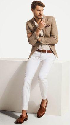Výsledek obrázku pro beige summer jacket outfit mens