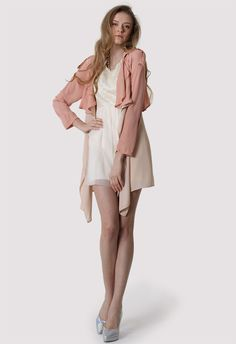 #Chicwish Nude Pink Chiffon Trench Coat - New Arrivals - Retro, Indie and Unique Fashion