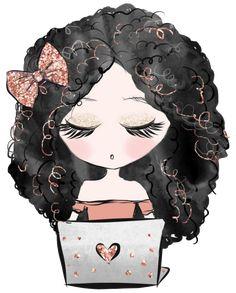Girl Pretty Art, Cute Art, Girly M, Cute Images, Mini Me, Cute Illustration, Fabric Painting, Cute Cartoon, Cute Drawings