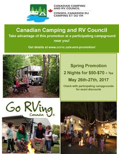 Promotions « Canadian Camping and RV Council Stay The Night, Rv, Promotion, Camping, Campsite, Motorhome, Camper, Campers, Tent Camping