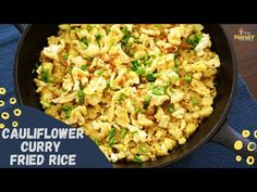 Cauliflower Curry Fried Rice - YouTube Rice Alternatives, Curry Fried Rice, Low Carb Recipes, Healthy Recipes, Cauliflower Curry, Fries, Tasty, Vegetables, Ethnic Recipes