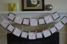 Sweet Baby Girl Banner  Baby Shower  by SweetEPaperBoutique, $25.00