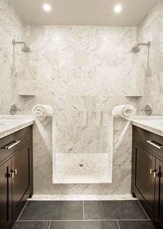 Suzie: Sutro Architects - Amazing master bathroom with slate tiles floor, chocolate brown ...