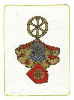 """""""Katapajzs"""" Egy, visegrádi várban látott címert reprodukált egy 2008 as álom Kos holdam védelmezőjeként a júl. holdfogyatkozás hatásaival szemben"""